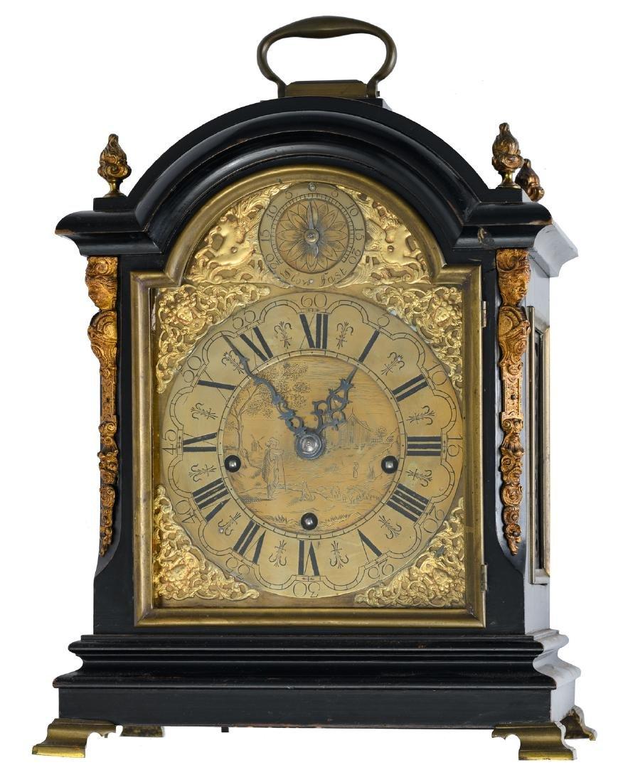 A late Victorian gilt bronze mounted 'Big Ben' bracket