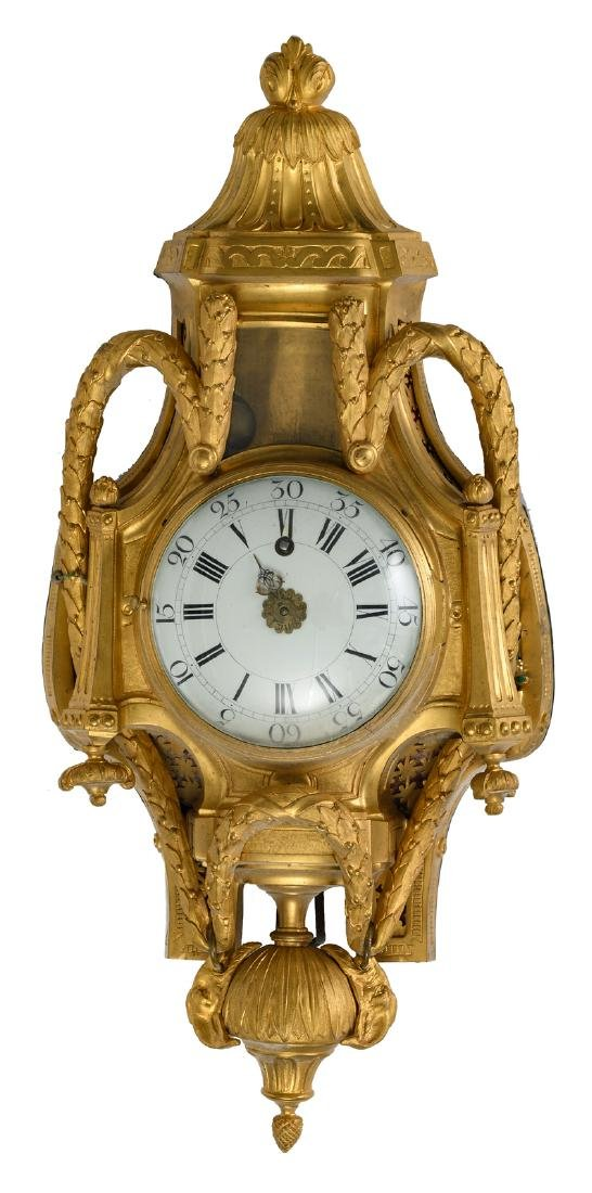 A fine Neoclassical wall clock, the work marked