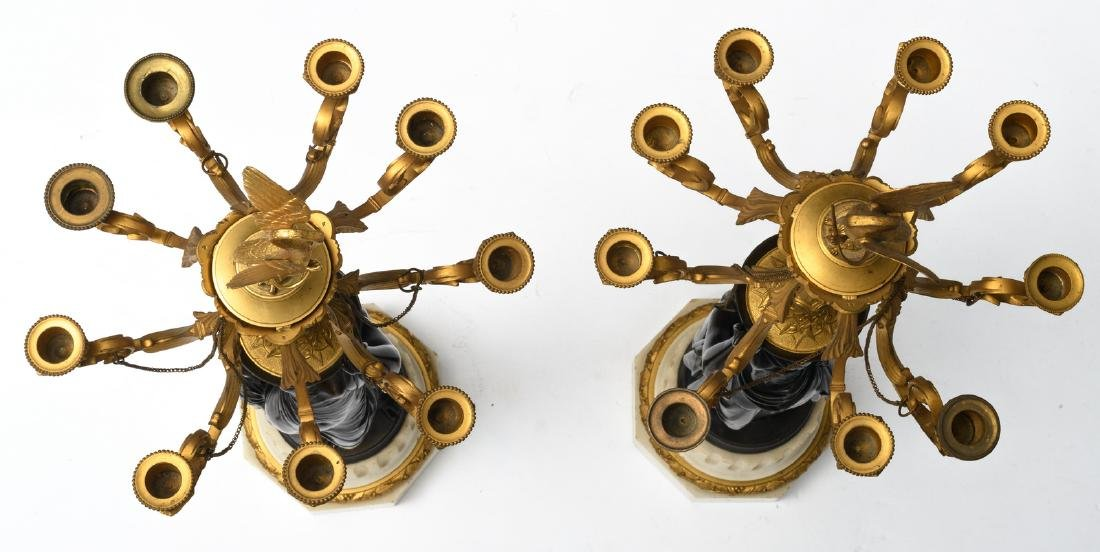 A pair of patinated and gilt bronze Historism - 5