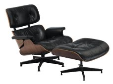 A Herman Miller production Eames rosewood lounge chair