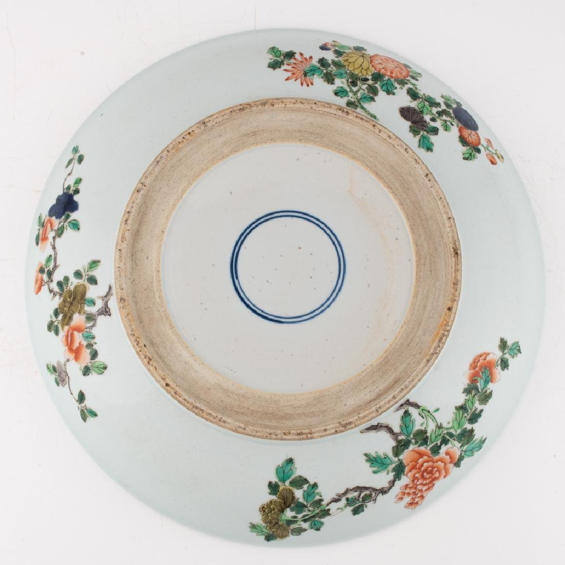 A Chinese famille verte floral decorated charger, the - 2