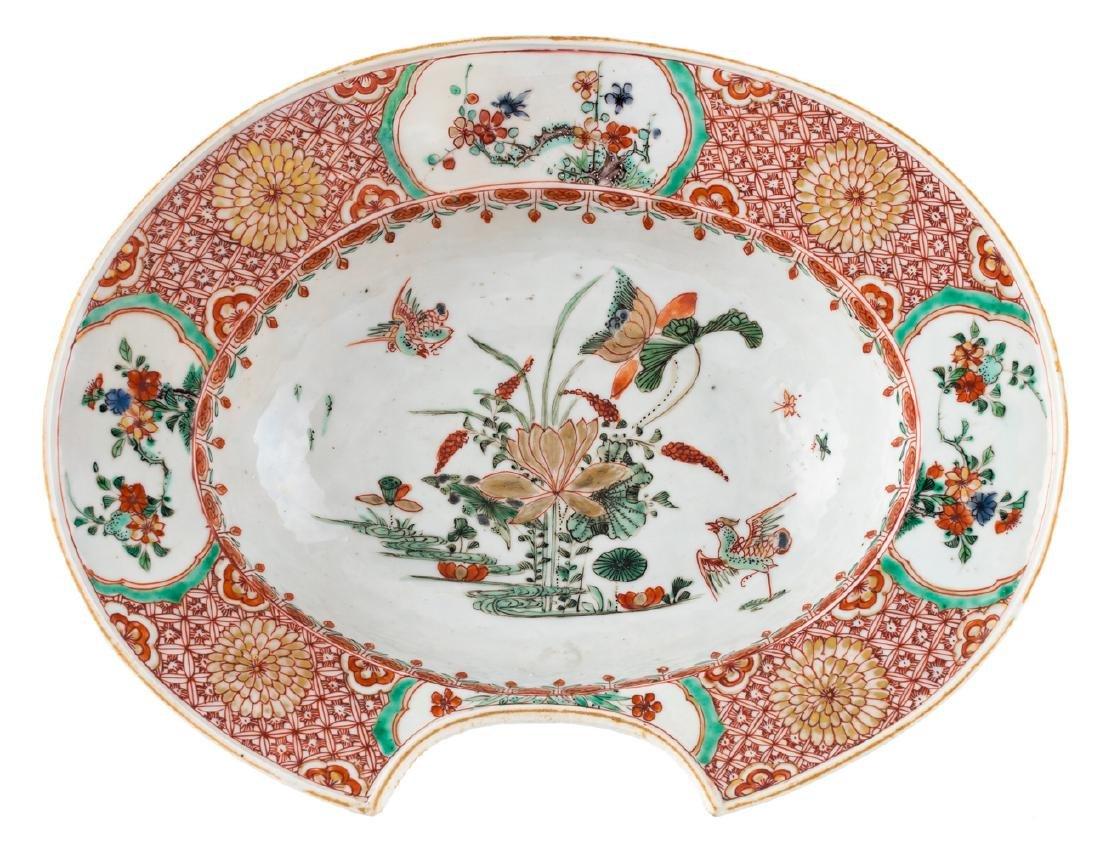 An 18thC Chinese famille verte export porcelain