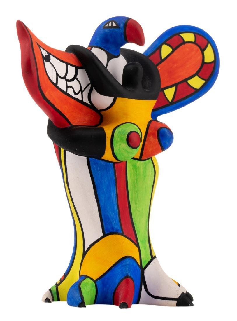 Niki De Saint Phalle, 'L'oiseau Amoureux', painted