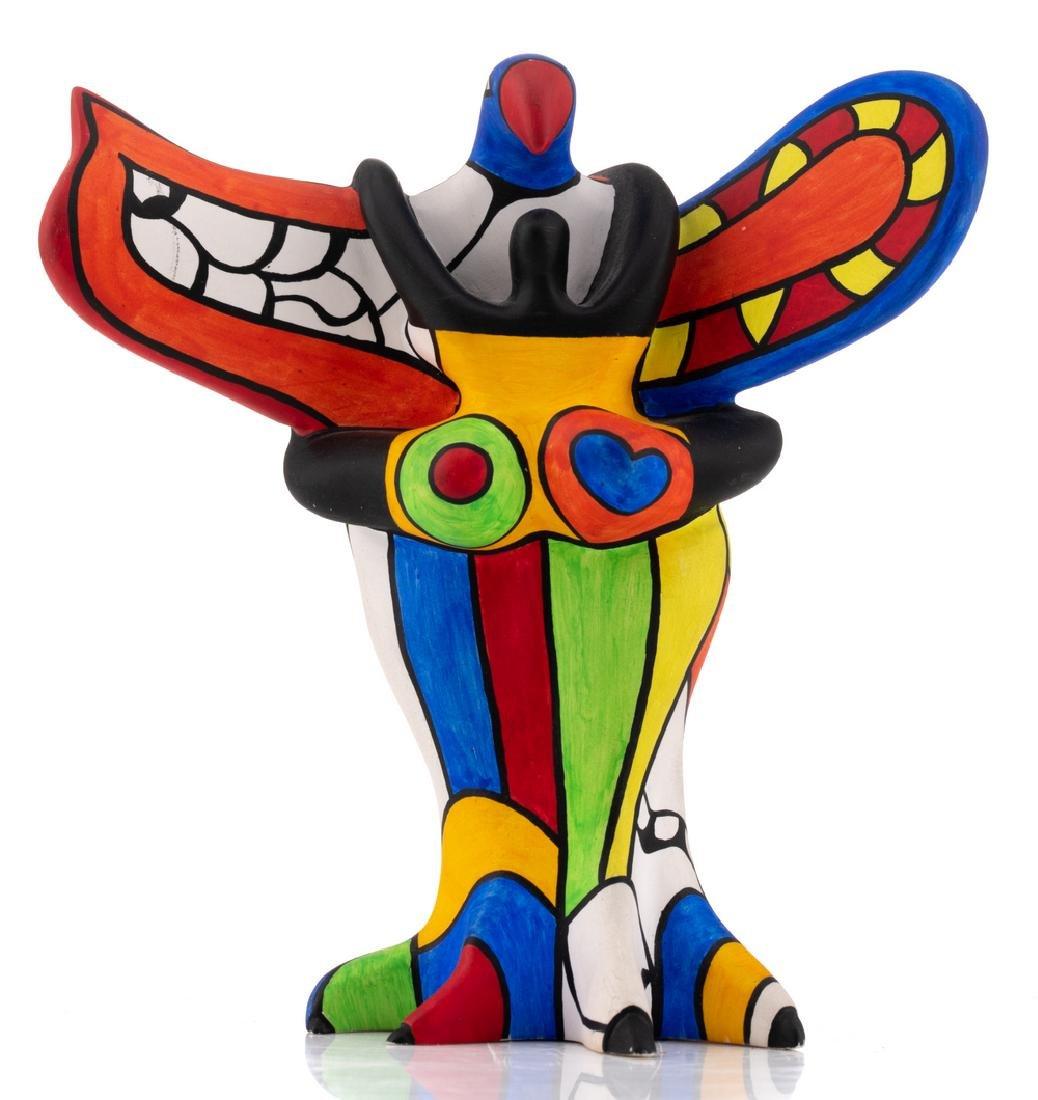 Niki De Saint Phalle, 'L'oiseau Amoureux', painted - 2