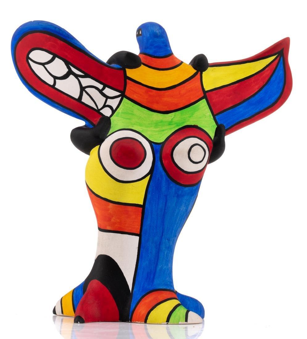 Niki De Saint Phalle, 'L'oiseau Amoureux', painted - 4