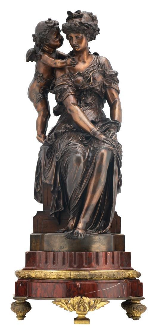 Van Rasbourgh J., 'Cupid as a mentor', patinated