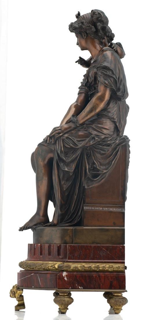 Van Rasbourgh J., 'Cupid as a mentor', patinated - 3