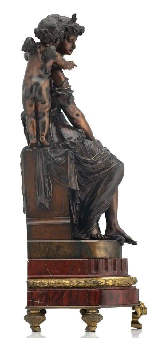 Van Rasbourgh J., 'Cupid as a mentor', patinated - 5