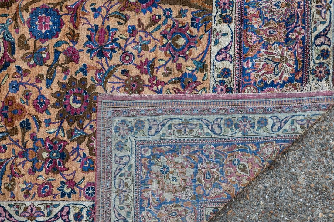 An extremely fine Oriental silk rug, floral decorated, - 3