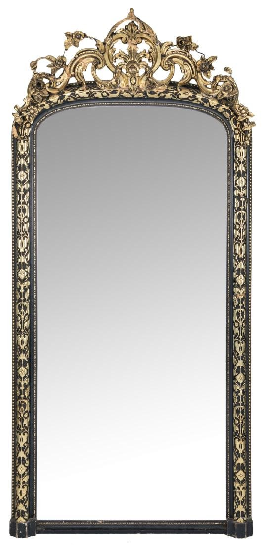 An imposing black lacquered and gilt decorated