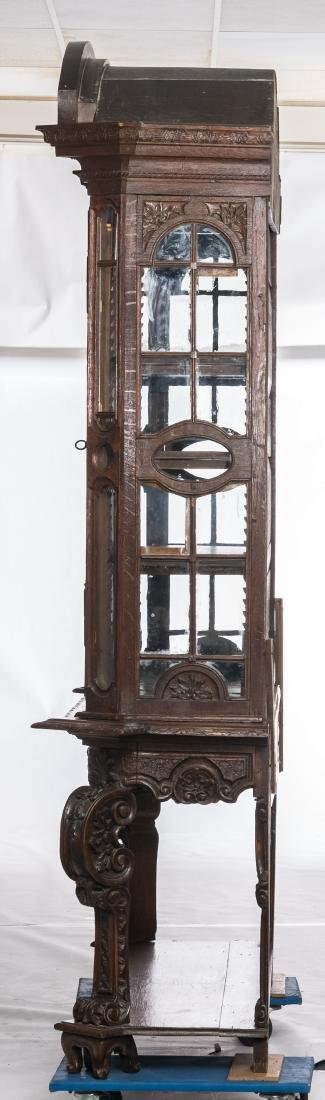 A fine carved late 19thC oak display cabinet in the - 2