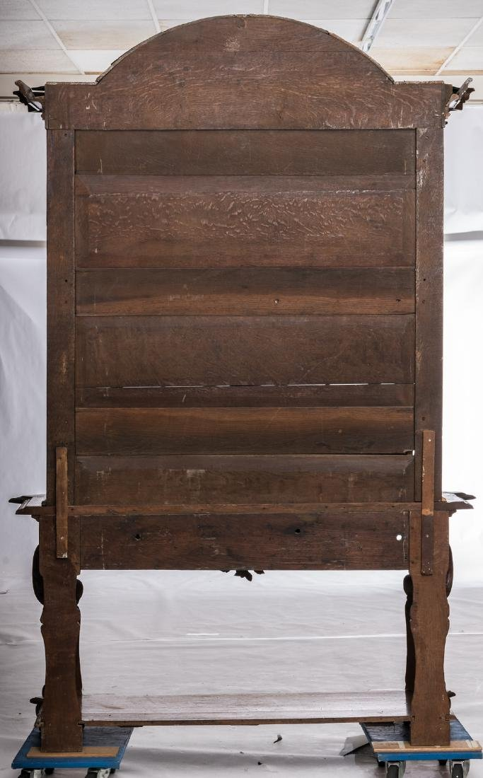 A fine carved late 19thC oak display cabinet in the - 3