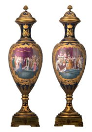 An important and impressive pair of generously gilt