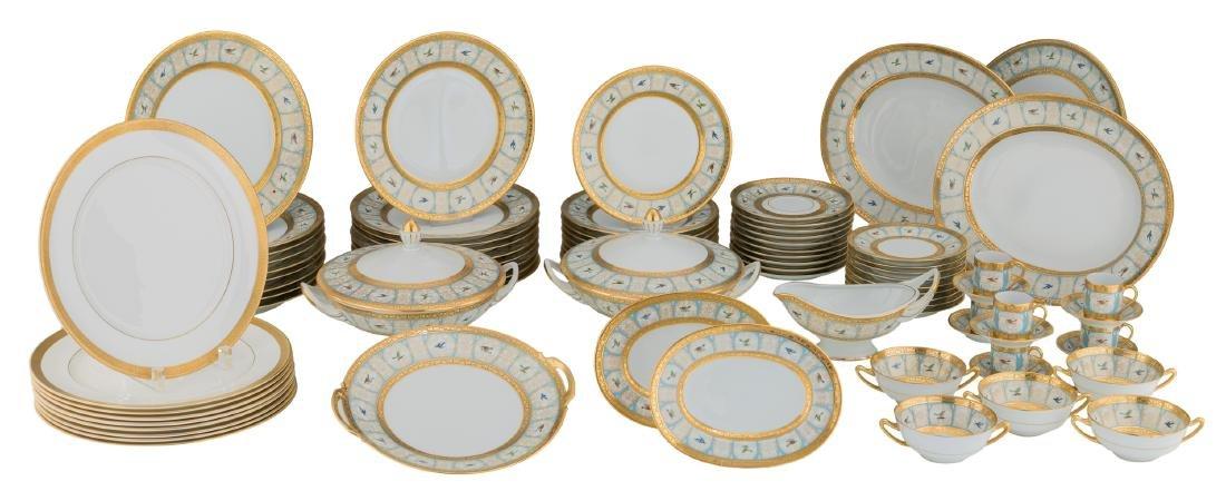 Parts of a porcelain Limoges service, Haviland, about