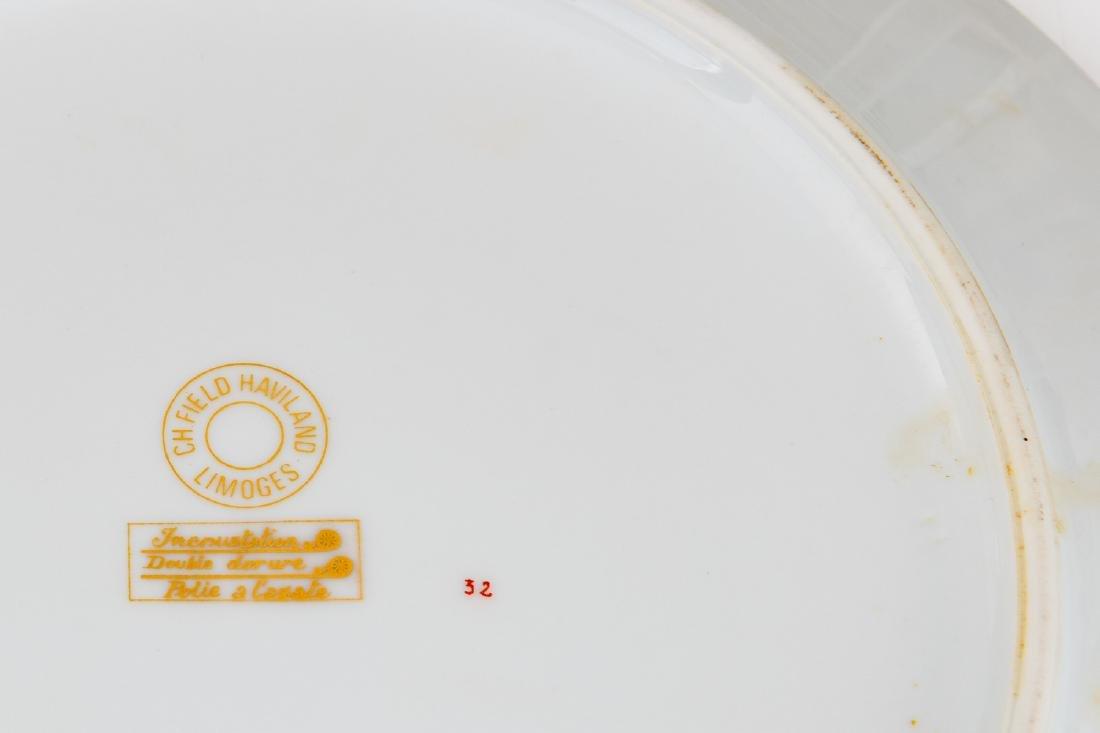 Parts of a porcelain Limoges service, Haviland, about - 2