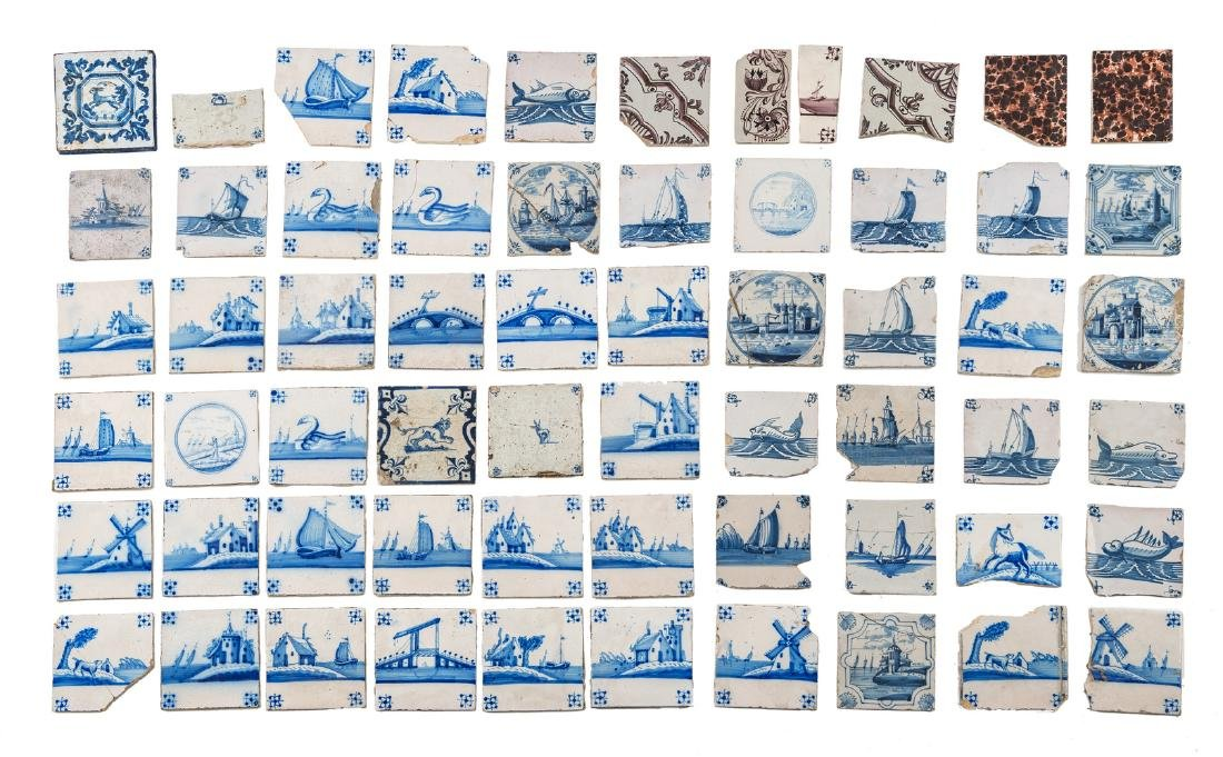 A lot of various 18th and 19thC blue and white