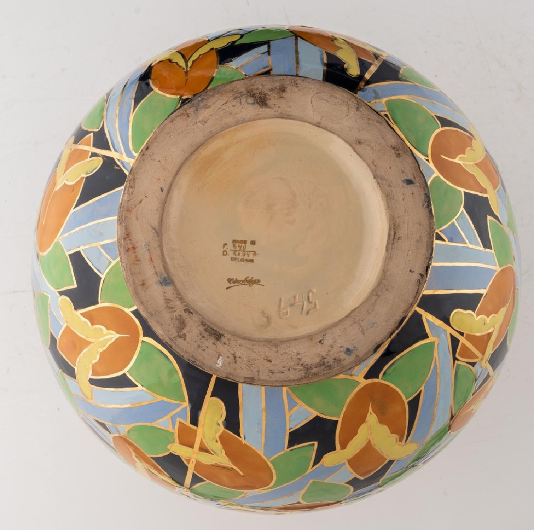 Apolychrome enamelled and gilt decorated Art Deco - 6