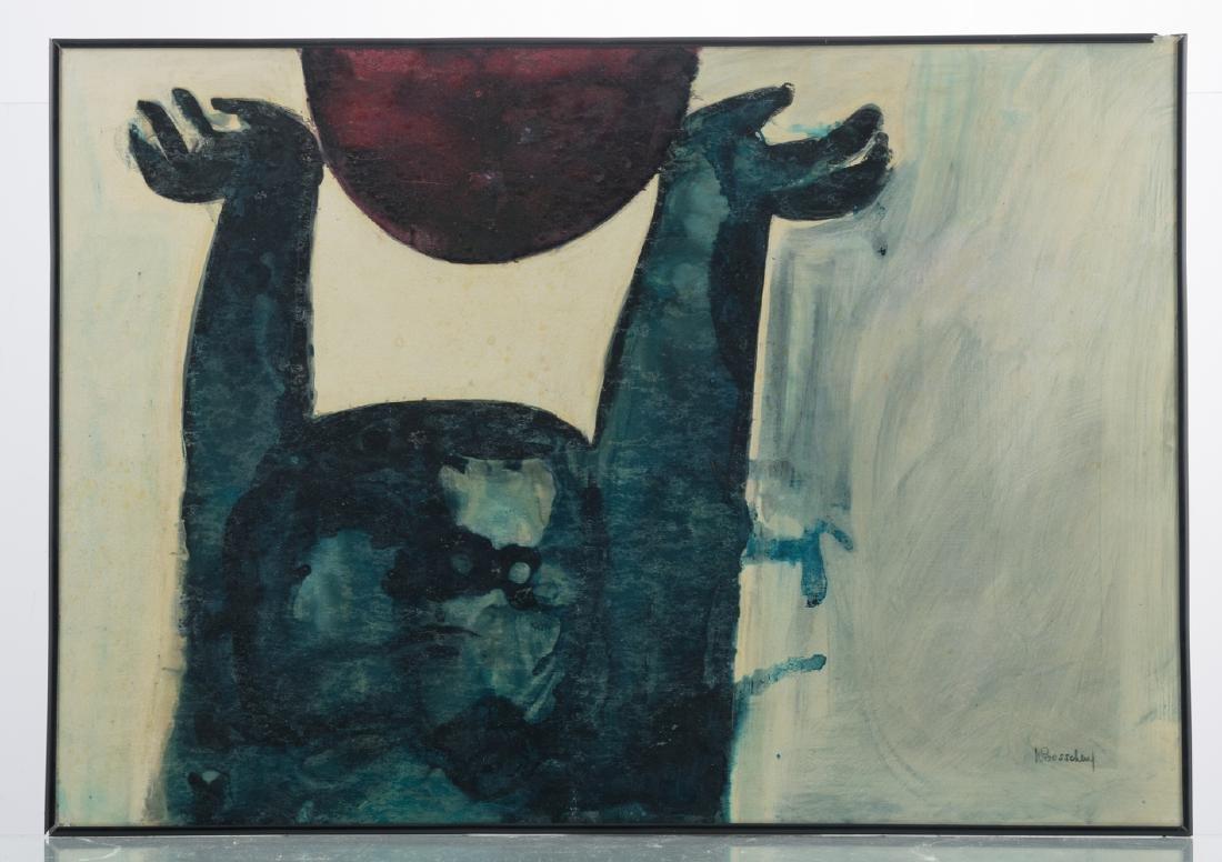 Bosschem W., 'Zonnegod I' and 'Zonnegod II', acrylic - 5