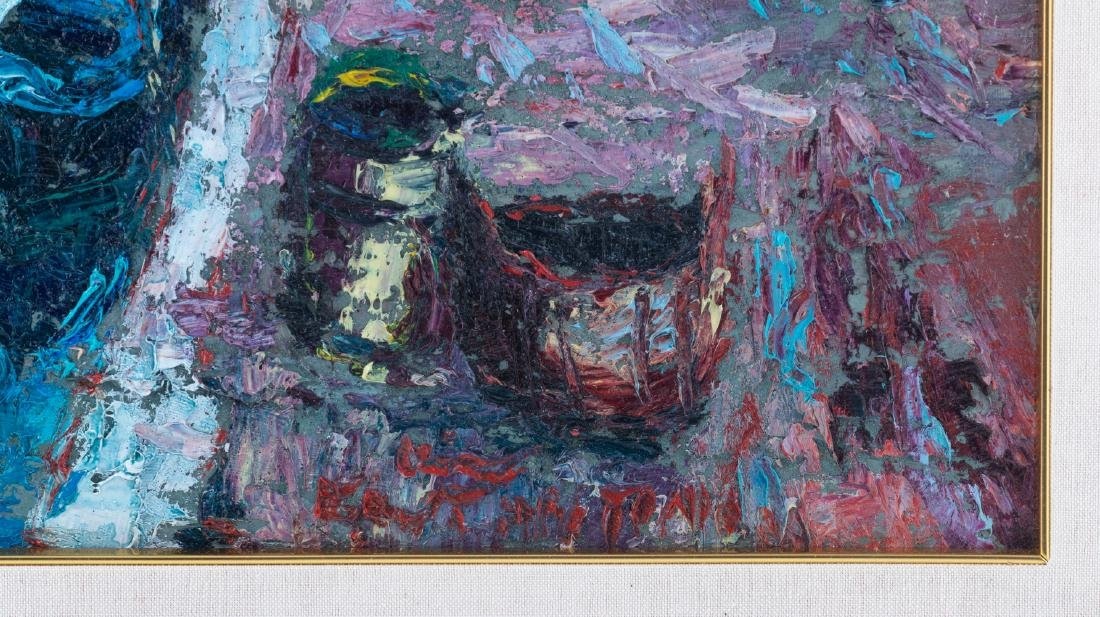 Illegibly signed, three views on Venice, oil on board, - 9