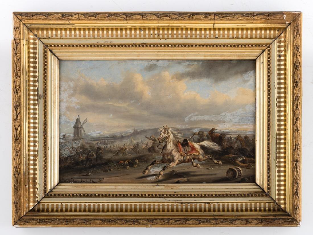 (Van Imschoot J.), an escaping cavalry horse in the - 2