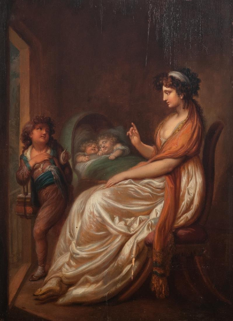 No visible signature, 'hush!', oil on panel, 19thC,