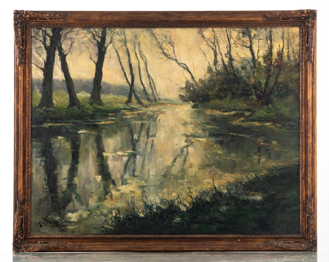 De Keyser R., 'La rivière la Dyle a Héverlé' (a view on - 2