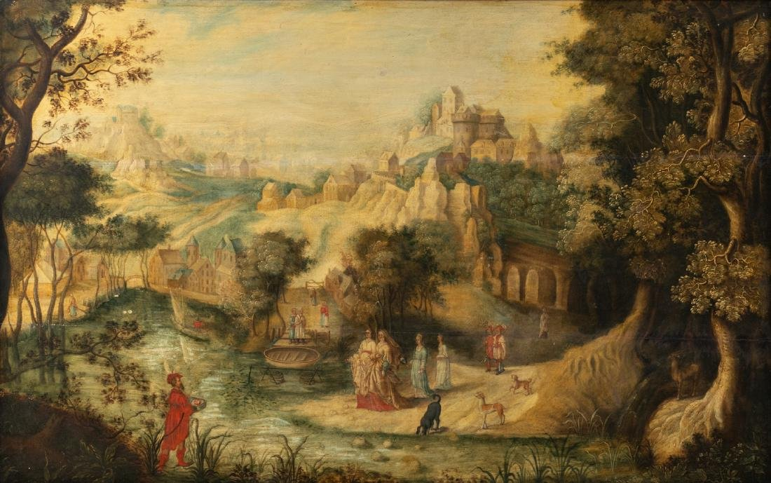 No visible signature, Moses, oil on panel, 16thC, 89 x