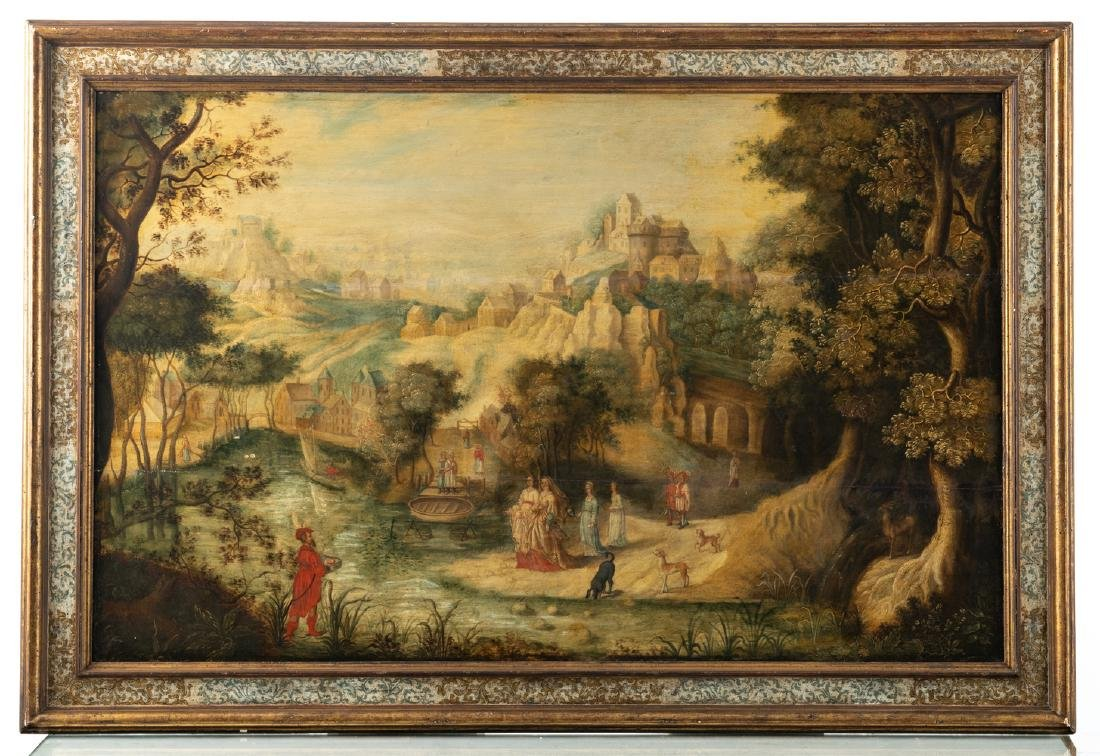 No visible signature, Moses, oil on panel, 16thC, 89 x - 2