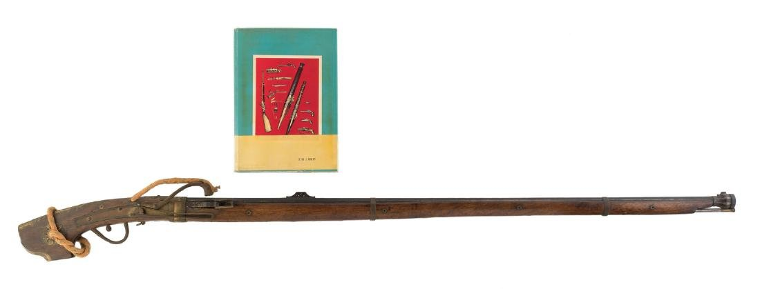 A Japanese possibly 17th/18thC rifle, the butt of