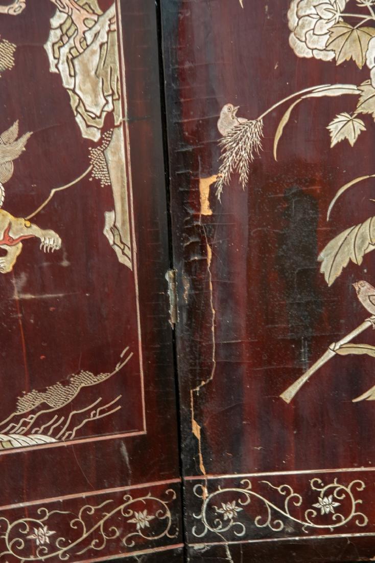 A Qing dynasty twelve panel coromandel lacquer screen - 10