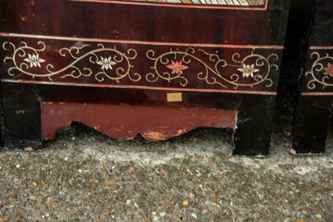 A Qing dynasty twelve panel coromandel lacquer screen - 5
