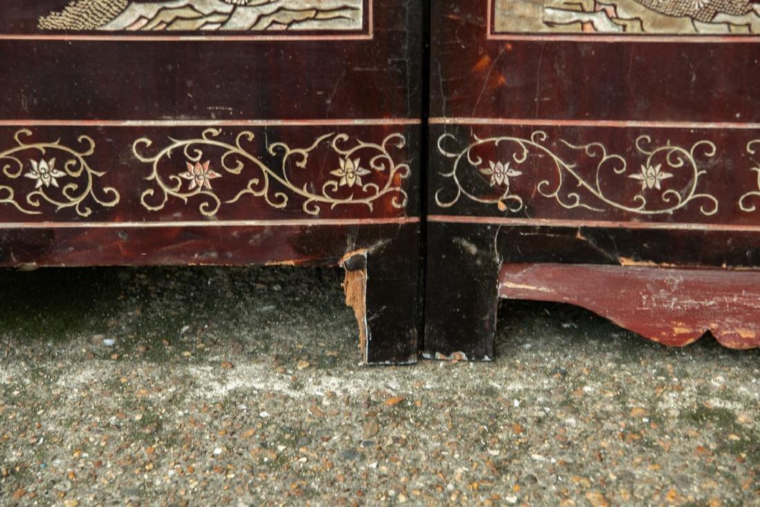 A Qing dynasty twelve panel coromandel lacquer screen - 6