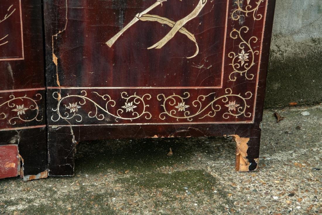 A Qing dynasty twelve panel coromandel lacquer screen - 8