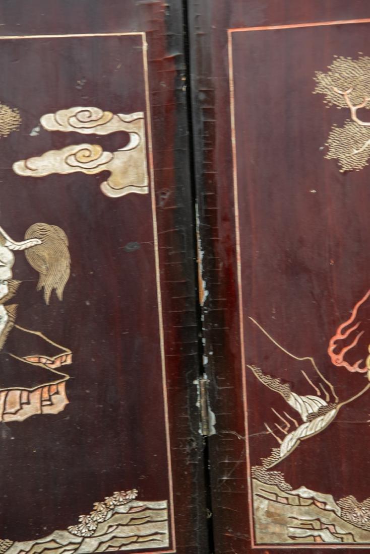 A Qing dynasty twelve panel coromandel lacquer screen - 9
