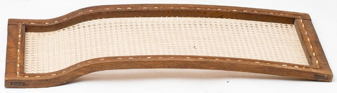 A rare 19thC stained and gilt walnut sledge, richly scu - 10