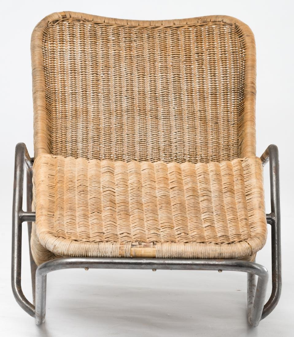A rocking lounge chair by Dirk Van Sliedrecht, rattan f - 2