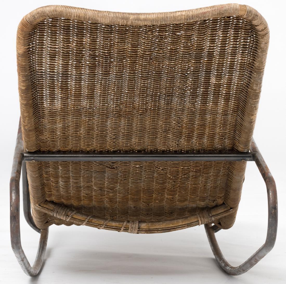 A rocking lounge chair by Dirk Van Sliedrecht, rattan f - 3