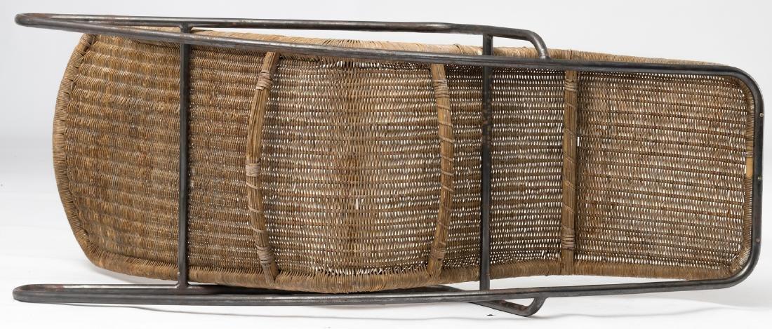 A rocking lounge chair by Dirk Van Sliedrecht, rattan f - 5