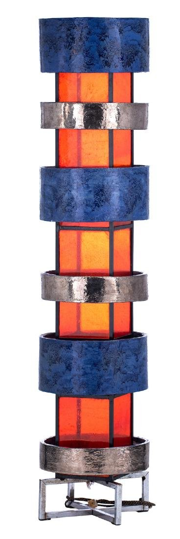 An extravagant design floor lamp, solid iron body with