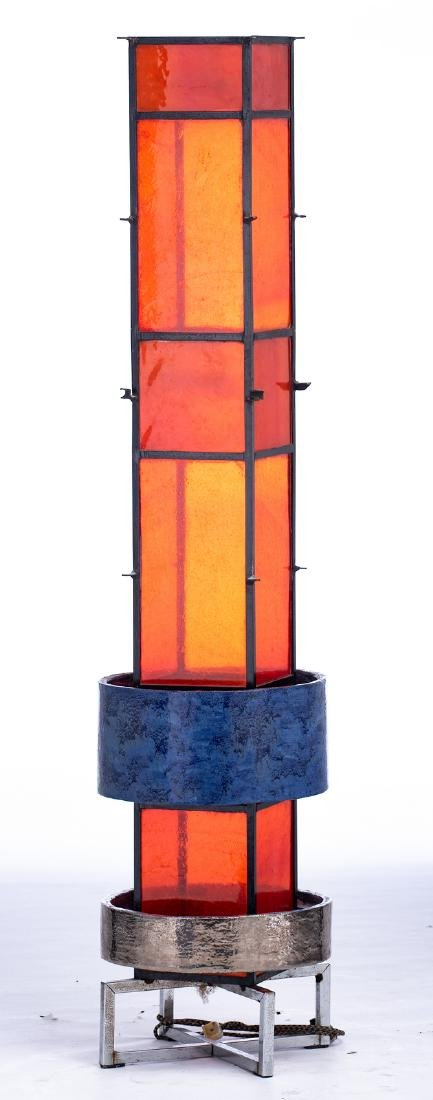 An extravagant design floor lamp, solid iron body with - 5