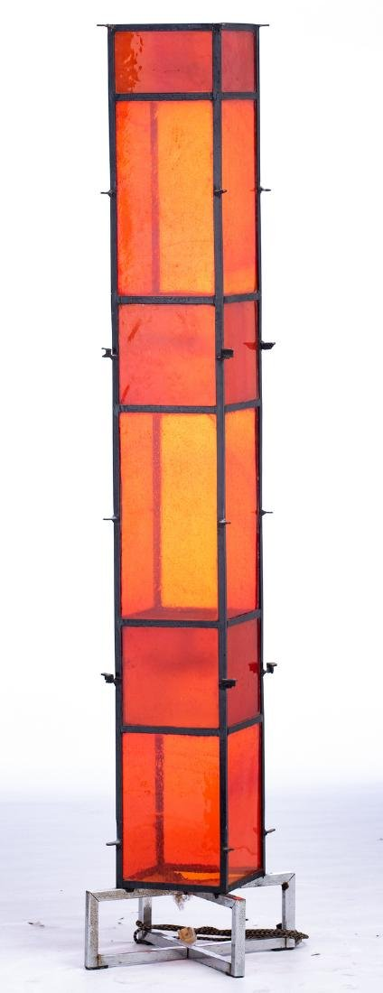 An extravagant design floor lamp, solid iron body with - 7