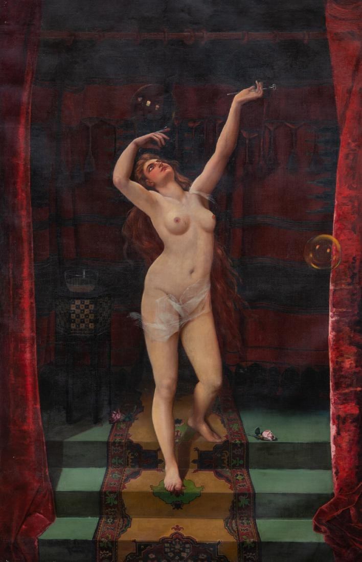 Gustave (Godon?), the nude serail dancer, oil on canvas
