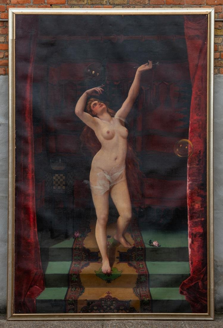 Gustave (Godon?), the nude serail dancer, oil on canvas - 2