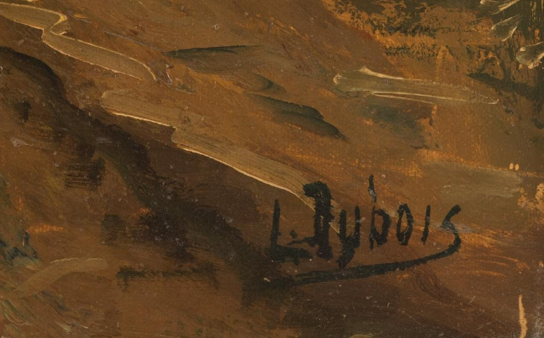 Dubois L., the wood cabin, oil on canvas, early 20thC, - 4