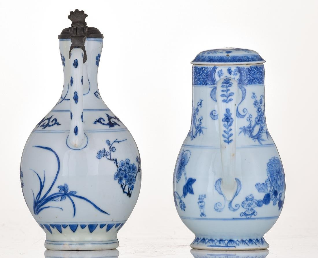 A lot of a Japanese Arita blue and white jug with - 3