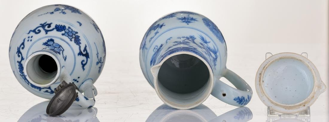A lot of a Japanese Arita blue and white jug with - 6