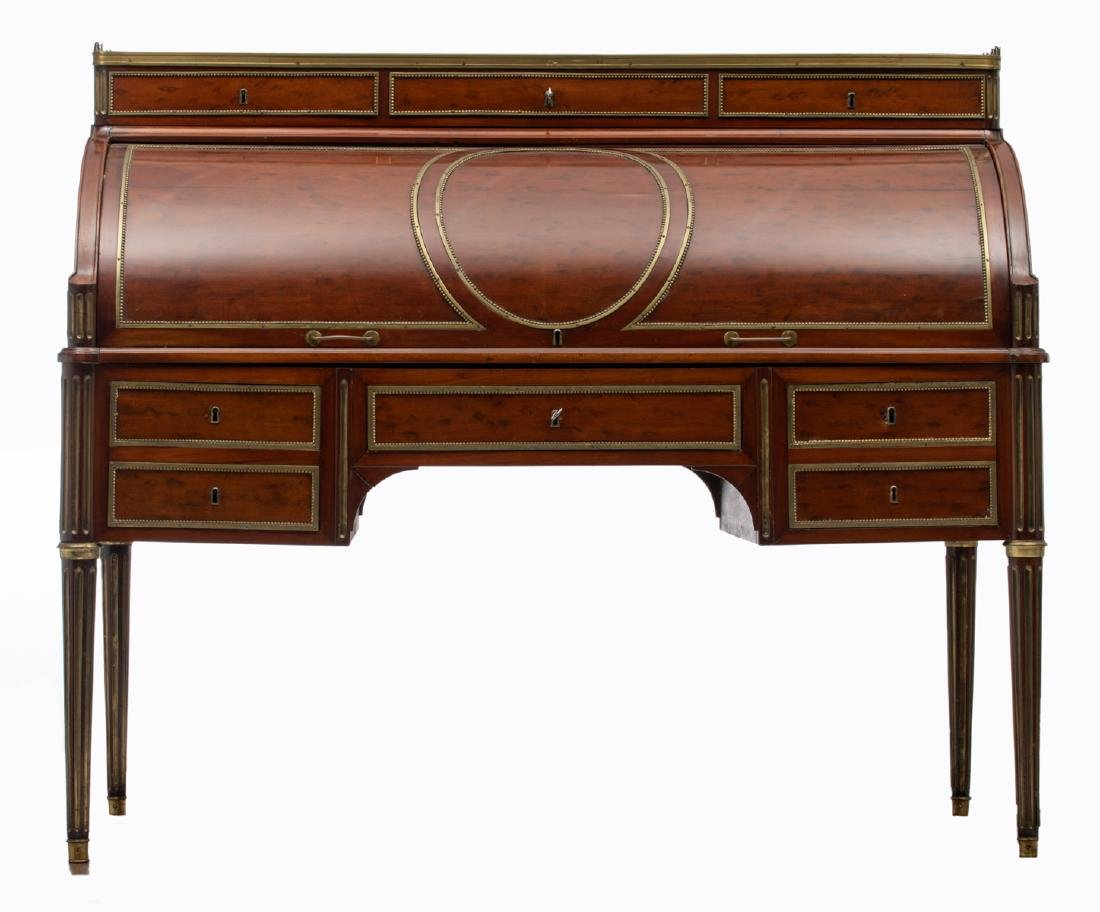 A fine French Louis XVI style bureau a cylindre after - 2