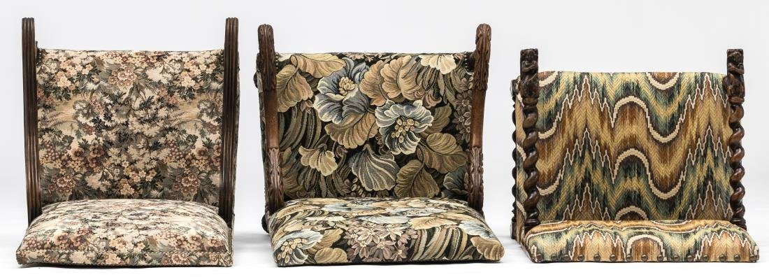 A Louis XIII walnut armchair, the armrests richly - 6