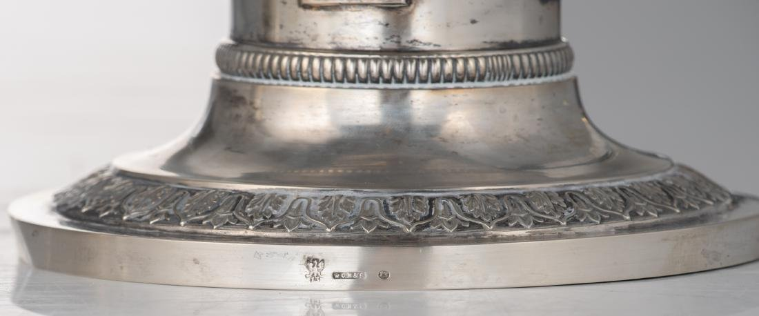 A fine pair of neoclassical silver candlesticks, - 5