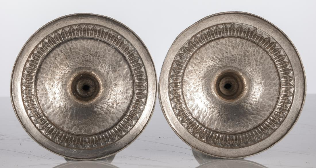 A pair of silver neoclassical candlesticks, Antwerp - 2